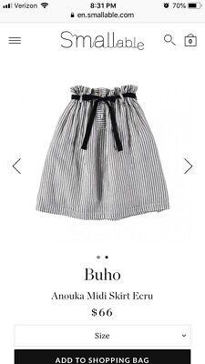 Buho Designer Girls Skirt Size 4