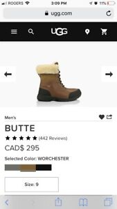 Ugg Butte Mens Boot Size 9 9.5/10 Condition