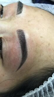 Eyebrow feathering & eyelash extensions ( special )