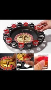 Roulette shot glass game