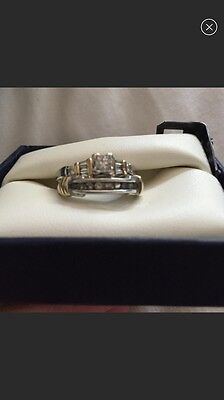 Beautiful Diamond Ring Set!! Engagement And Wedding Rings.14k Gold