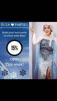 Princess parties Elsa Anna Rapunzel Ariel belle Elena