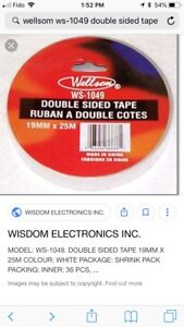 Double sided tape, 72 rolls, new in box!