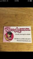 Sherry's sparkle & shine cleaning services