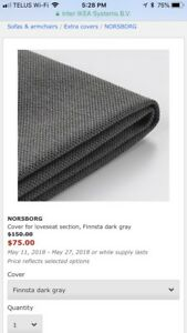 Ikea Norsborg covers in navy blue - two sets available