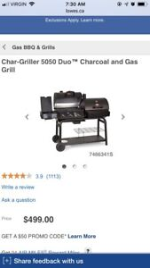 Gas and charcoal bbq