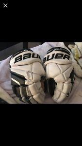 """12"""" Bauer hockey gloves"""