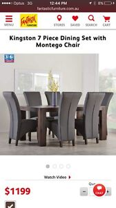 Kingston 7 piece dinning set with Montego chair Hillsdale Botany Bay Area Preview