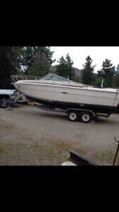 1990 SeaRay Cuddy Cab Boat + Trailer