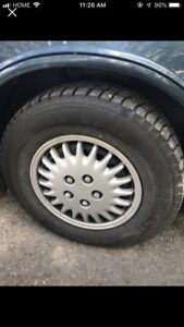 4 tires with rims 70R15