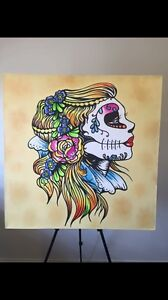 Day of the dead girl Painting Berwick Casey Area Preview