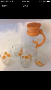 Orange Juice Decanter & Glasses