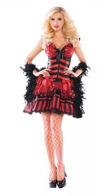 Burlesque Babe Showgirl Incharacter Party King Costume Large L 12-14 Runs Small](Burlesque Showgirl Costumes)