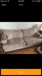 Good couch with bed included!