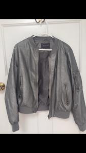 Grey Womens Bomber Jacket