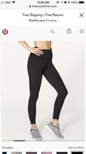 3 pairs of lululemon leggings for sale (size 12)