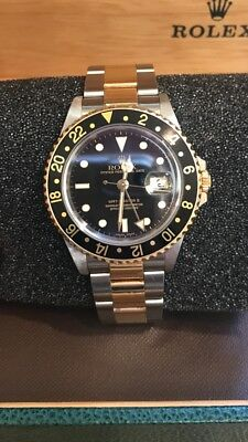 Rolex 2004 GMT master II 16713 18k Yellow Gold & Stainless Steel 40mm