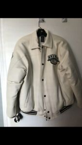 Men's « AVIREX «  off-white leather coat 90$
