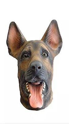 German Shepherd Alsatian Dog Mask Latex Animal Masks Fancy Dress Costume - German Shepherd Mask