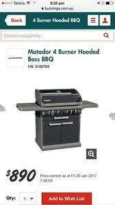 Matador Hooded 4 burner BBQ with side burner Pallarenda Townsville City Preview