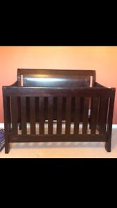 Espresso convertible crib from target