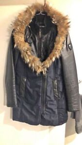 Rudsak Winter Jacket With Leather Sleeves Great Condition