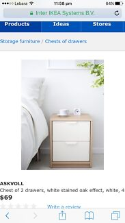 New in box Ikea Askvoll  chest of 2 drawers
