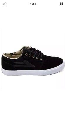 6d54c791015d46 Lakai Griffin SMU Duck Black  White Canvas NIB Skateboard Shoe Men s Size 11