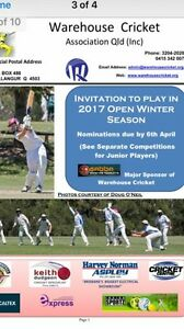 Winter cricket club looking for players Beaudesert Ipswich South Preview