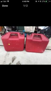 Two 25L Wedco gas can