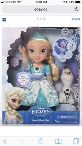 **GREAT CHRISTMAS GIFT ** New Frozen Snow Glow Elsa Doll & Olaf