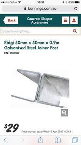 2x Ridgi 50mm x 50mm x 0.9m Galvanised Steel Joiner Post Malvern East Stonnington Area Preview