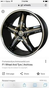 Set of 18inch G2-320 black with chrome inserts with Yokohama tyres Dean Park Blacktown Area Preview