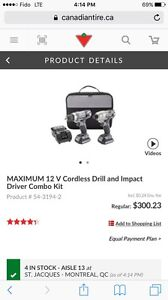 Mastercraft Maximum impact driver / drill Dual Touch Combo