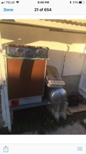 Propane fridge, stove and heater for old camper