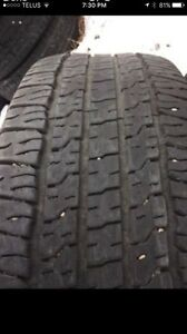 265/70R 17 Goodyear Wrangler fortitude HT. Set of two tires.
