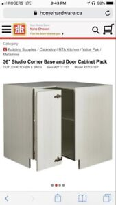 Studio Corner Base Cabinet; Cutler Kitchen & Bath 36""