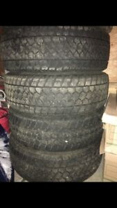 4 Toyo WLT1 LT 265/60 R20 winter tires