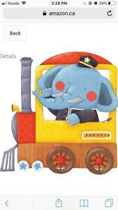 Animal Trains Peel and Stick Nursery Kids Wall Decals Stickers