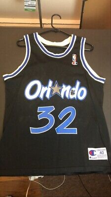 Shaquille O'Neal Vintage Champion Jersey (Size 40) - Orlando Magic NBA