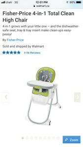 New Fisher Price 4 in 1 Total Clean High Chair