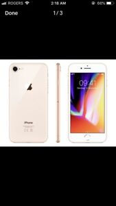 Apple iPhone 8- 64 gigs, Mint condition, One month old