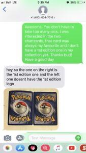 SCAM ALERT!!  shadowless Pokemon cards