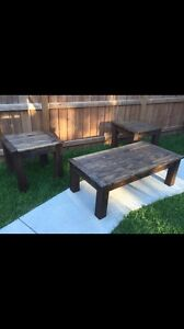 Custom Wood Coffee and End Tables