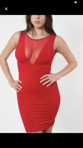 American Apparel Red Dress Size Large