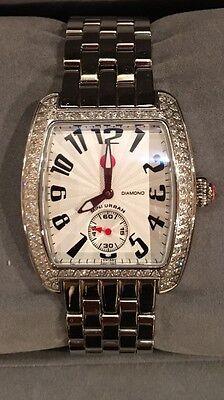 Michele Ladies Mini Urban Silver Diamond Watch MW02A01A2001 New with Tag