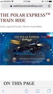 Polar Express Train Ride at Waterloo Central Railway