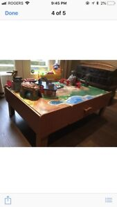 Train table (Imaginarium)  and train pieces