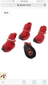 New Uxcell Walking Dog Shoes/ Booties, X-Small, Red