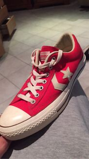 Red converse Shoes Belrose Warringah Area Preview